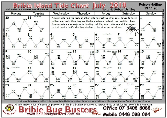 Tide Chart Bribie Island